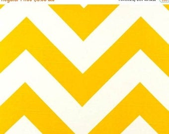 ON SALE - 10% Off Premier Prints Zippy Corn Yellow White Slub Chevron Stripe Home Decorating Fabric By The Yard