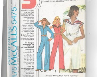 McCall's Misses' and Junior Petite Jumpsuit and Culotte Dress Pattern