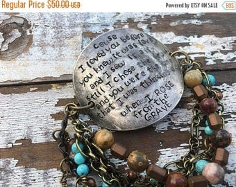 40% OFF- Stamped Spoon Bracelet-Out of Hiding-Word Cuff-