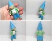 Easter Bunny Gnome Bendy Doll- Waldorf Felt Doll- Woodland  Boy, Nature Table Doll- Small Miniature Bendy Doll- Felt Bendable Doll- Easter