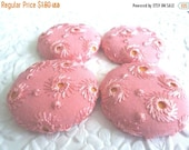 CLEARANCE - Pink buttons, eyelet buttons,  fabric buttons, covered buttons, textured buttons, 1.5 inch button, size 60 buttons, price per bu