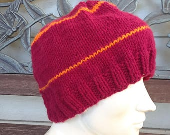 Slouchy Large Fit Hand Knit Beanie