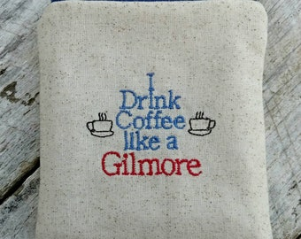 Gilmore girls pouches. I drink coffee like a Gilmore pouch. Gilmore girls zipper purse. Coffee lovers purse. Great gift idea