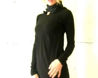 PLEATED EMPIRE TUNIC clothing| women| tops| tunics| shirts| handmade| treehouse28| custom| long sleeve shirt| comfortable shirt| unique