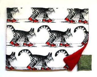 Catnip Mat and Catnip Kliban Red Sneakers Refillable Reversible
