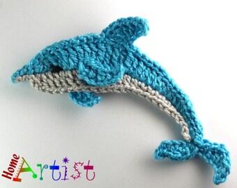 Crochet Applique Dolphin