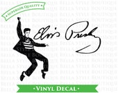 Elvis Presley Jailhouse Rock and Signature VINYL DECAL