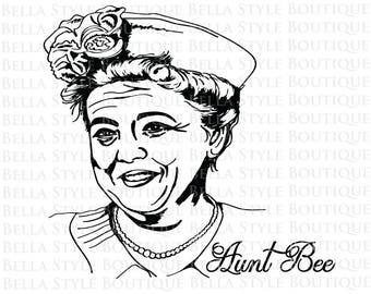 Aunt Bee Andy Griffith Show svg cut file