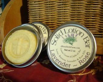 Solid Lotion Bar Lavender Rose