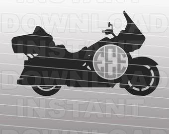 Harley Davidson SVG,Motorcycle SVG File,Motorcycle Monogram SVG File-Vector Clip Art for Commercial & Personal Use-Cricut,Cameo,Silhouette