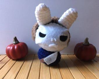 Michael Myers Moon Bun - Bunny Rabbit Amigurumi - October Create a Day Challenge Doll