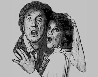 Haunted Honeymoon T-Shirt Gene Wilder & GIlda Radner