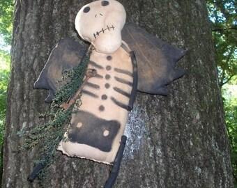 CustomerAppreciationSale Primitive Halloween Sugar Skull Skeleton
