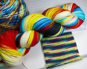 Hand Dyed Superwash Sock Fingering Yarn in Choice of Bases (Explicit Content) -- FUCK 2017: USA Edition