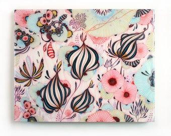 Dulcet - Resin-Coated Art Print on Wood Panel - 11x14