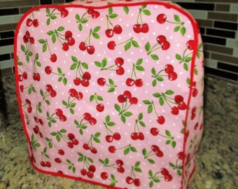 Cherries Jubilee, pretty in pink Mixer cover fits Kitchenaid