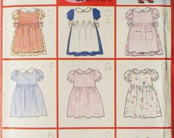 60% OFF SALE Childrens Sewing Pattern Butterick 6484 Toddlers Pinafore & Dress Pattern Size 1,2, 3, 4 Uncut