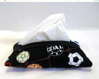 Flash Sale Soccer Tissue Holder Travel Size Tissue Cozy