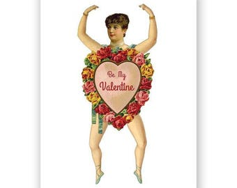Paper Doll Valentine Card