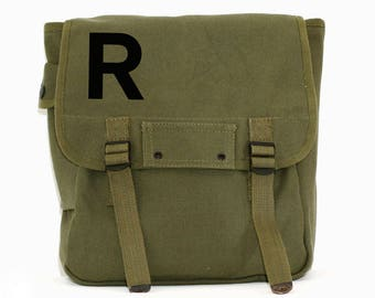 Monogrammed Backpack, Monogram Backpack, Custom Backpack, Personalized Backpack, Military Backpack, Canvas Backpack, Groomsmen Gift