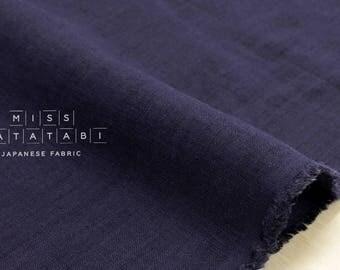 Japanese Fabric 100% linen - indigo blue -  50cm