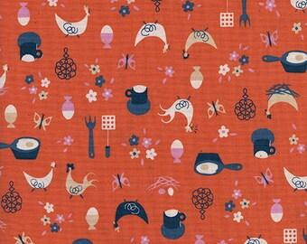 Cotton + Steel Welsummer - kitchen kitsch - sweet orange - 50cm - PRE-ORDER
