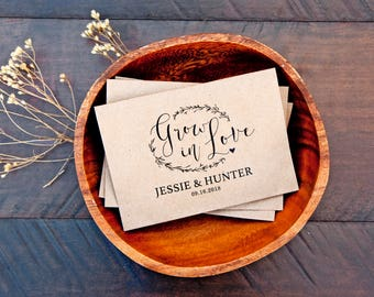 Wedding Seed Favor Packets - Grow in Love -  Seeds Included - Wildflower or Lavender - 30 Packets or more
