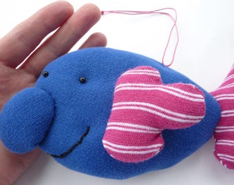 Happy Blobfish - Arthur - hand sewn hanging decoration - collectors' doll - collectors' plushie / plushy