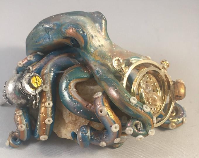 Time Traveler Octopus Sculpture