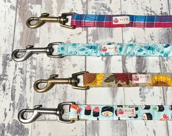 Hand-Crafted Dog Leash - Dog Lead - Choose Your Fabric & Hardware Finish