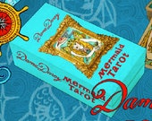 PRE-ORDER Dame Darcy Mermaid Tarot Gold Edition with Box, Tarot Decks, Oracle, Fortune telling, Witch, Halloween, Divination, Cartomancy