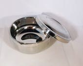Men's Stainless Steel Shaving Soap Lathering Bowl Mug for Razor Shaving w Lid