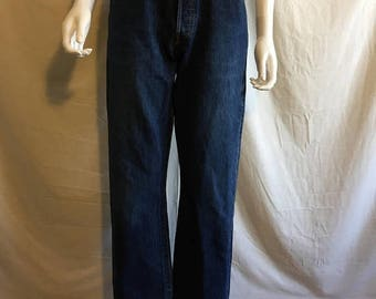 Closing Shop 40%off SALE Levis jeans 501 W 30 waist Dark Denim Indigo