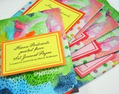Art Journal Postcards - kit of 3 (three) different postcards with Abstract Paintings by iHanna