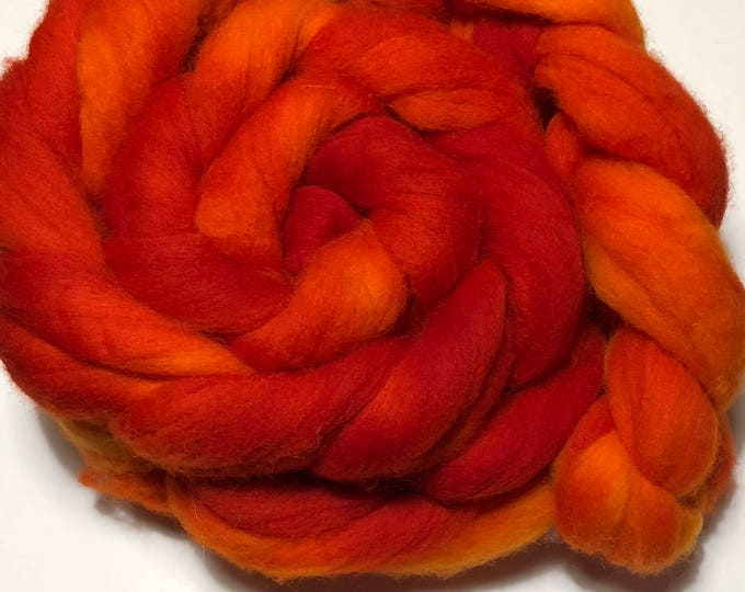 Kettle Dyed Cheviot Wool top. Roving.  Spin. Felt. Soft and easy to work with. Fireside.