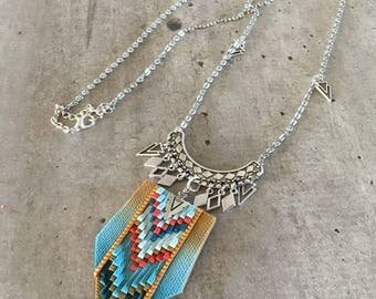 Native American style polymer clay necklace