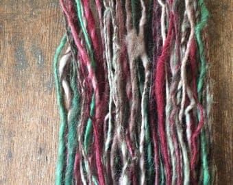 Dream Weaver, handspun bulky yarn, 88 yards, bulky yarn, rustic art yarn, chunky yarn, wool handspun yarn