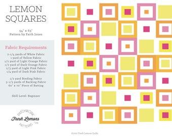 Modern Quilt Pattern - Lemon Squares - PDF