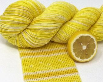 "hand dyed self striping sock yarn - ""Lemon"""