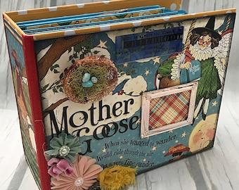 MOTHER GOOSE All Occasion Scrapbook Scrapbooking Chipboard Mini Album
