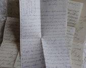 Paris Antique Hand written letters 1871.1876..1882.