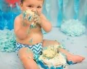 Cravate ou noeud papillon, couche couverture Chevron bleu vif ensemble accessoire de photographie, habillé bébé garçon