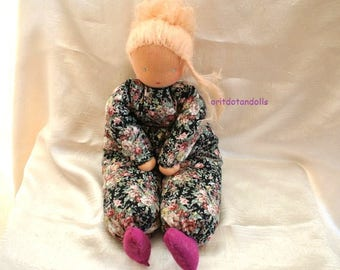 Waldorf doll, ALL HANDMADE-15inch \ 37.5cm- no machine involved  בובת וולדורף