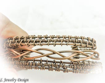 Celtic Copper Cuff Bracelet
