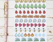 Forest Nature Icons MATTE Sticker Sheet | For Kikki K, ECLP, Bullet Journals and  Planners