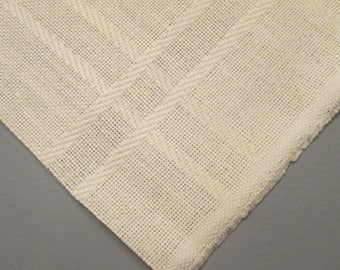 Pale Yellow Fabric For Embroidery/ Needlework - 58 Inches by 36 Inches - Destash