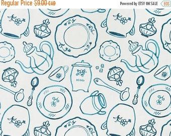 SALE - Tea Party - IKEA Pirjo Cotton Fabric