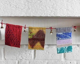 Bohemian Bunting Kantha Quilt Prayer Flags