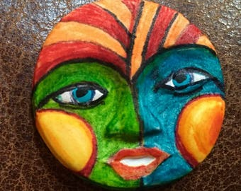 clay face jewelry craft supplies jester spirit dolls handmade cabochon   polymer clay doll parts head mask tribal