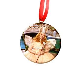 "Wizard of Oz Glinda Good Witch  2.25"" Christmas Tree Ornament"